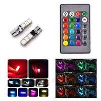 Modules 1 Set SMD RGB LED T10 194 168 W5W Car Wedge Light 16 Colors Demo Lamp Bulb With Remote Controller Strobe