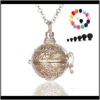 Pendentif bijoux bijoux collier lava pierre essentiel huile de diffuseur collier aromathérapie pendentifs de mode bijoux de vacances cadeaux 3 DRO
