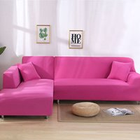 Cubierta de sofá de 2 unids para sala de estar cubierta de sofá Elástico L en forma de esquina Sofás de esquina Cubiertas de silla de tracción Longue Slegsal Funda 284 S2