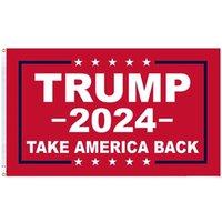90 * 150 cm Trump 2024 Wahlflagge Digitaldruck Donald Trump Kampagne Machen Sie Amerika Toll wieder Banner Flaggen Dekoration OWF5791