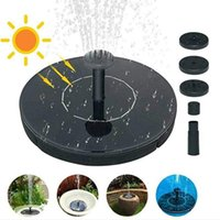 Solar Garden Fountain Pump Waterfall Power Supply Bird Driven Water Bathtub Gardening Tools Decorations