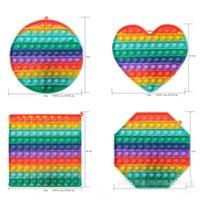 Large Size 20CM Big Pop it Rainbow Push Bubble Fidget Toys Oversize Sensory Decompression Toy Stress Reliever Toy Pop it Kids Gift