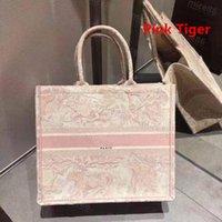 Top Original Stickerei Qualität Luxurys Designer Tasche Taschen bestickt Tiger Muster Große Kapazität Einkaufen Taschen Handtasche Tote Geldbörse Handmade doppelseitig