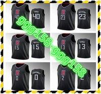 Basketball-Jersey \ RLOS \ Rangeles \ RClippers Kawhi Leonard 2 Paul George 13 Lou Williams 23 Ivica Zubac 40 Jeder Spieler, der benutzerdefinierte Trikots drückt