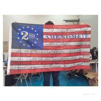 2. Değişiklik Vintage Amerikan Bayrağı Açık Yapmak Eski Anayasa Banner 90 cm * 150 cm Polyester Parti Malzemeleri T2I52219