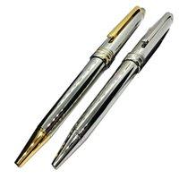 Luxe haute qualité Silver Rollerball Fontaine Stylos Papeterie School Office Fournitures Écrire des cadeaux de stylo à bille