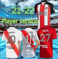 Jogador Versão 2021 2022 Placa Jersey de la Cruz Quintero Futebol Jersey Borre Fernandez Pratto Soccer Jersey Camiseta de River Plate 21/22