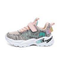 2021 Primavera Bambini Scarpe da ginnastica per ragazze Bambini Scarpe Sport Girl Shining Fashion Casual Child Shoes Girl Chaussure Enfant 7088