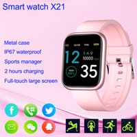 Smart Watch iP67 Waterproof X21 Smartwatch Women Men Fitness Tracker Sport Watches for IOS Android Phone Heart Rate Monitor Blood Pressure Functions