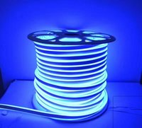 Полоски Fanlive 20M 220V 240V Гибкая FITA LED Neon Flex Raune Bar Light SMD 2835 Открытый Внутренний RGB Мягкая пробел Водонепроницаемый Огни