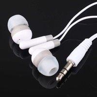 Hoge kwaliteit 100 stks / partij wegwerp zwart kleurrijke in-ear oordopjes oortelefoons voor iphone 4 5 6 hoofdtelefoon MP3 MP4 3.5mm audio