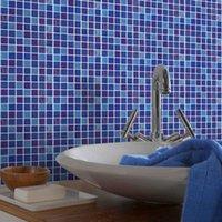 자기 접착 벽지 모자이크 타일 페이스트 3D 3 차원 벽 스티커 배경 거실 부엌 방수 페이스트