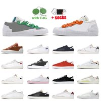 Nike Blazer Low 77 Vintage Sacai النساء الرجال حذاء كاجوال كلاسيكي أخضر ماغما برتقالي بريطاني تان أيرون جراي جامعة أحمر أزرق ملكي حذاء رياضي