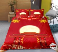 Bedding Sets Chinese Royal Style 3d Printing China Red 2 3 Duvet Cover Wedding Couple Luxury Fitted Pillowcase