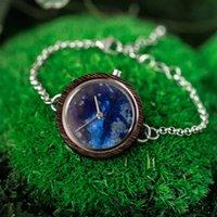 OEM de madeira do metal da pulseira da mulher do relógio criativo