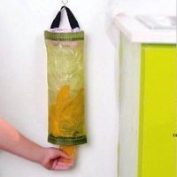 Hanging Baskets Home Kitchen Mesh Organizer Grocery Bag Holder Wall Mount Storage Dispenser Plastic DHD7724