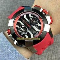 Вечность спортивные часы RFF EPIC X CHRONO CR7 черный / белый скелет циферблат Японии VK кварцевый хронограф движения мужские часы нержавеющие корпус красный резиновый ремень высокое качество