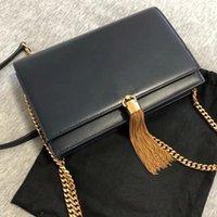 Kaviar Rindsleder Frauen Klassische Kate Quaste Kette Schulter Crossbody Taschen Umschlag Messenger Bag Lady Flap Porte Designer Handtaschen Kupplung Brieftaschen