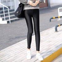 Женщины теплые зимние леггинсы женские брюки с высокой талией большой размер соболью жесткие бархатные кашемировые эластичные штаны