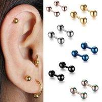 2pcs Tragus Bar 4mm Ball Stainless Steel Barbell Daith Oreja Ring Stud Earing Cartilage Ear Piercing Body Jewelry