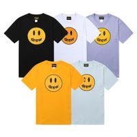 Justin Bieber Drew House Casual T-shirt uomo sorriso viso stampa manica corta maglietta girocollo t-shirt uomo donna moda top tee