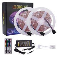 16.4ft 32.8FT LED-strips 5m 10m RGB 5050 Striplichten 150LEDS 300LEDS MET 44 KEY AFSTANDEN