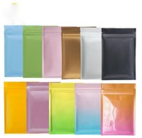 multi color Resealable Zip Mylar Food Storage Aluminum Foil Bags plastic packing bag Smell Proof Pouches