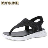 Sandals MVVJKEWomen Thick Platform Summer Thongs Shoes Roman Casual Woman Soft Beach Big Size 35-45