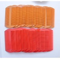 Plastic Two Side Hair Combs Red Yellow Color Lice Comb Women Hair Caring Tools