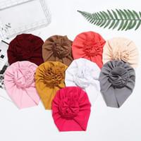 Caps & Hats Knot Bow Baby Headbands Toddler Infant Headwraps Flower Turban Babes Kids Bonnet Elastic Hair Accessories