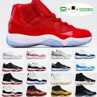 [Com caixa] AIR JORDAN 11 RETRO LOW GS shoes 25º aniversário Criado Concord 45 Space Jam Homens Basquete Sapatos Indigo Jogo Royal Reverse Game Mens Mulheres Esportes Sneakers