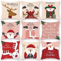 Feliz Navidad Cojín Cover Santa Claus Elk Decoración navideña para el hogar 2021 Adornos navideños Natal Navidad Año Nuevo