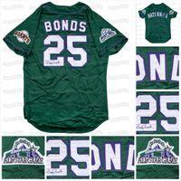 25 Barry Bonds 1998 All-Star Game Национальный бейсбол Джерси Грин Мужская женская молодежь Всеши трикотажные изделия