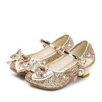 Yoliyolei primavera cristal crianças sapatos meninas princesa glitter bebê dança casual criança menina sandálias de couro apartamento