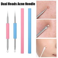 Makeup Brushes Double Head Acne Needle Facial Remover Stainless Steel Blackhead Pimple Blemish Extractor Removal Tool Skin Care