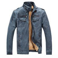 Winter men's leather jacket monclair leather windbreaker nationalday man unshaven washed genuine leather jacket for but 8818 CJ191213