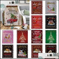Textiles Home & Garden13 Style Blankets Flannel Winter Warm Decorations Blanket Christmas Xmas Gifts Xd24152 Drop Delivery 2021 Gndsj