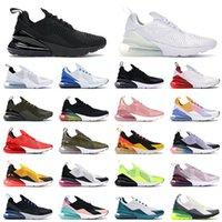 nike air max airmax 270 270 حذاء جري رياضي ثلاثي أسود كل أبيض للنساء رجالي عالي الجودة صيفي متدرج صور أزرق حار لكمة 270 s حذاء رياضي مقاس 36-45