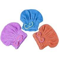 Towel Colors Hair Microfiber Solid Quickly Dry Hat Turban Women Girls Ladies Cap Bathing Drying