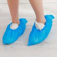 Chaussures jetables couvrent les bandes élastiques non tissées anti-poussière Couverture de pied à la maison couvre-chaussures jetables sans glissement couvre 2081 v2