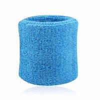 Ürün No 180 Renkli Pamuk Unisex Spor Ter Bandı Bileklik Bilek Koruyucu Koşu Badminton Basketbol Brace Terry Number 820