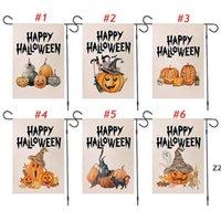 47 * 32cm Halloween Garden Drapeau Pumpkin Drapeaux Drapeau de linge Bannière Terreur Drapeaux Décoration Européenne et Américaine HWD8364