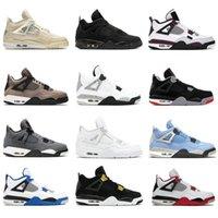 Bred 4 4S أحذية كرة السلة ترافيس سكوتس jobsian الجامعة الأزرق رجل أسود القط sail guava النساء أحذية رياضية 36-46