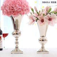 Высокий металлический цветочный стенд с ментальной подсвечником для вазы для свадебного стола Центральная вечеринка Украшения
