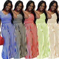 Women's Tracksuits Black White Striped 2 Piece Set Summer Sweatsuit O Neck Short Sleeve Crop Top High Waist Wide Leg Pant Vintage Plus Size