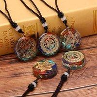 Energy OM Symbol Chakra Целебное Оргонитное Ожерелье Медитация Ювелирные Изделия Ручной Профессиональный Dropshippin