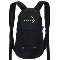 방수 스포츠 배낭 LED 회전 신호 라이트 원격 제어 안전 가방 야외 하이킹 자전거 가방