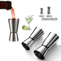 Jigger Cuisine Outils Acier Inoxydable Cocktail Shaker Mesure Coupe Double Tête Dispositif de mesure du vin 15/30ml DHF10061