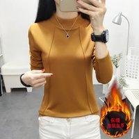 Tuangbiang 2021 зимняя водолазка для зимы Держите теплые футболки женщины с длинным рукавом повседневная футболка хлопчатобумажная кашемира толстые топы Camiseta Mujer