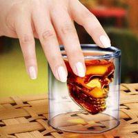 25ml 70ml 150ml 250ml 250ml Vin Coupe de vin Skull Verre Shot Beer Whisky Halloween Décoration Creative Party Boissons Transparent Lunettes de boisson